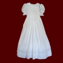 Click to Enlarge Picture - Hand Smocked & Scalloped Lace Communion Dress