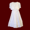 Click to Enlarge Picture - Shantung Sleeveless Communion Dress With Optional Jacket