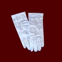 Satin Communion Gloves With Shamrocks