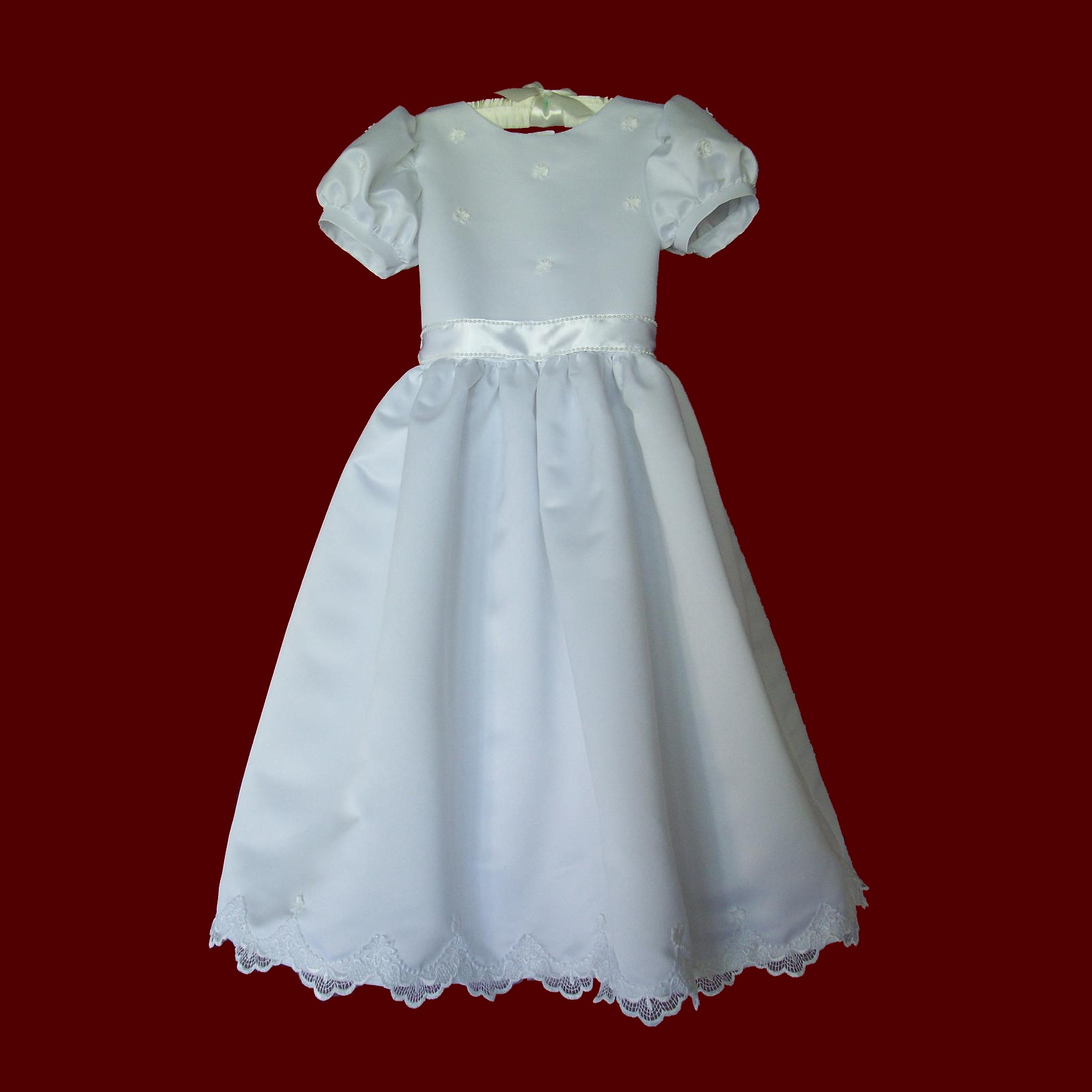 Click to Enlarge Picture - Irish Peau de Soie Communion Dress
