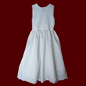 Click to Enlarge Picture - Sleeveless Organza With Crosses Communion Dress