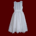 Click to Enlarge Picture - Embroidered Crosses Organza Communion Dress