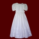 Click to Enlarge Picture - Silk Communion Dress With Lace Scallops