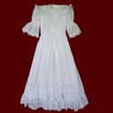 Click to Enlarge Picture - Cross & Heart Lace Smocked Communion Dress
