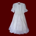 Click to Enlarge Picture - Smocked Treasures Signature Designer Silk Communion Dress