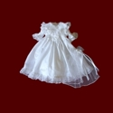 Click to Enlarge Picture - Elaborate Smocked American Girl Communion Dress & Veil
