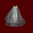 Communion Hairbow With Optional Cross & Shamrocks & Headpiece