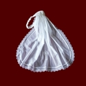 Click to Enlarge Picture - Hand Smocked Communion Headband With 100% Cotton Netting Veil