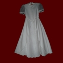 Click to Enlarge Picture - Irish Communion Dress With Embroidered Trinity Knots