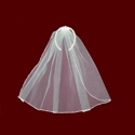 Click to Enlarge Picture - Hand Embroidered Satin Communion Headband With Detachable Veil