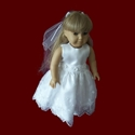 Click to Enlarge Picture - American Girl Organza With Crosses Communion Dress & Veil