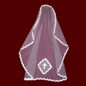 Click to Enlarge Picture - Mantilla Style Communion Veil