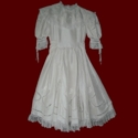 Click to Enlarge Picture - Lily of the Valley Silk Designer Communion Dress With Gores/Godets