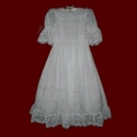 Click to Enlarge Picture - Cross & Heart Lace Scalloped Communion Dress