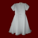 Click to Enlarge Picture - Chiffon & Peau de Soie Communion Dress
