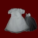 Chiffon & Peau de Soie Doll Communion Dress & Veil