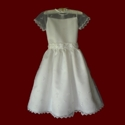 Click to Enlarge Picture - Sheer Organza With Flowers Communion Dress
