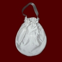 Silk Drawstring Communion Purse With Pearls