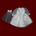Click to Enlarge Picture - Silk Organza American Girl Communion Dress & Veil