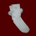 Communion Anklets With Rhinestone Cross