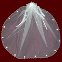 Irish Communion Veil With Hairbow & Optional Cross & Tiara
