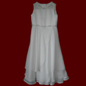 Click to Enlarge Picture - Tiered Georgette With Beaded Floral Trim Communion Dress