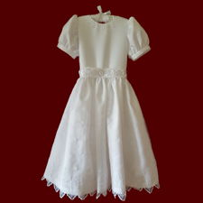 Click to Enlarge Picture - Irish Organza With Crosses Communion Dress