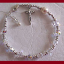 Crystal and Freshwater Pearl Rosary Bracelet
