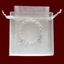 Swarovski Crystal Wrap Rosary Bracelet with Birthstone