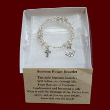 Irish Swarovski Crystal Wrap Rosary Bracelet with Claddagh & Celtic Cross