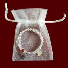 Click to Enlarge Picture - Birthstone Rosary Bracelet With Celtic Cross & Shamrock or Claddagh Charm