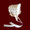 Click to Enlarge Picture - Leopard Print Minky Girl Bonnet