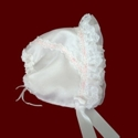 Click to Enlarge Picture - Organza Ruffle Bonnet