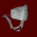Click to Enlarge Picture - Embroidered Sparkle Lily of the Valley Organza Bonnet