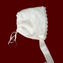 Click to Enlarge Picture - Embroidered Netting Bonnet