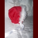 Click to Enlarge Picture - Minky Girl Christmas Bonnet