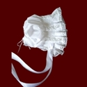 Click to Enlarge Picture - Lacy Smocked Bonnet