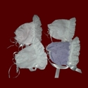 Click to Enlarge Picture - Assorted Ruffled Bonnets for Girls