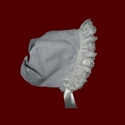Button Back Girls Bonnet