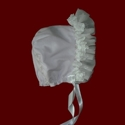 Click to Enlarge Picture - Organza Ruffle Corduroy Bonnet