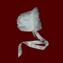 Click to Enlarge Picture - Silk Girls Bonnet With Organza Ruffle