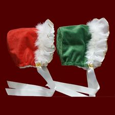 Click to Enlarge Picture - Personalized Minky Christmas Bonnet With Optional Liner