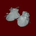 Click to Enlarge Picture - Made in USA Christening Booties