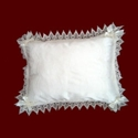 Click to Enlarge Picture - Silk Christening Pillow