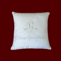 Click to Enlarge Picture - Bless Our Child Christening Keepsake Pillow