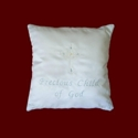 Click to Enlarge Picture - Precious Child of God Christening Pillow