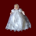 Click to Enlarge Picture - Christening Gown For Your Keepsake Doll