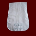 Personalized Burp Pad With Embroidered Cross