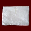 Click to Enlarge Picture - Ivory Silk Christening Blanket With Saying