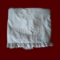 Click to Enlarge Picture - Minky Christening Blanket With Saying